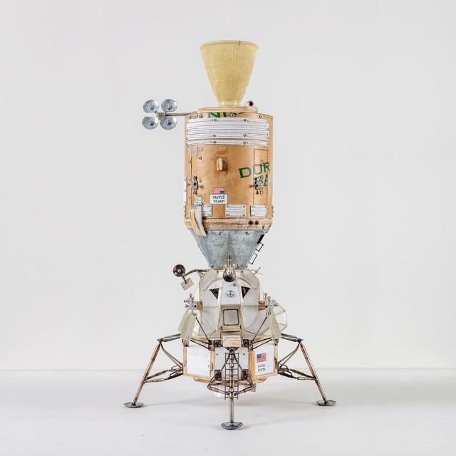 image: Objects of Devotion on view @speronewestwater Docking,...Plywood, epoxy resin, cardboard, latex paint, steel, mixed...27 H x 12 W x 12 D...S/N: 2016.282 by tomsachs