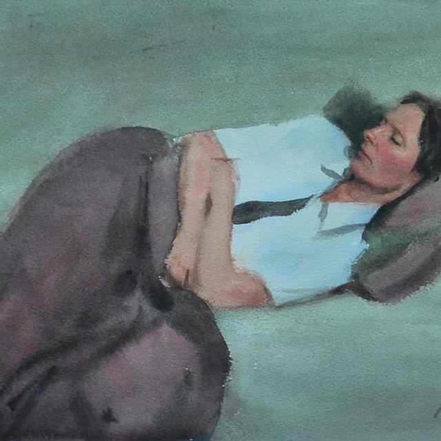 image: A quick watercolour from 2011. 31x23cm.#konst #art #watercolour #akvarell #study by nickalmart