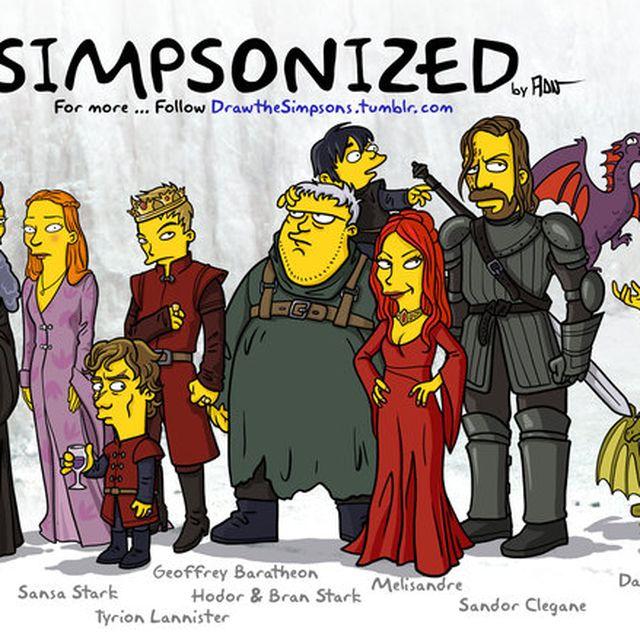 image: Los personajes de Game of Thrones estilo Los Simpson by aidahulton