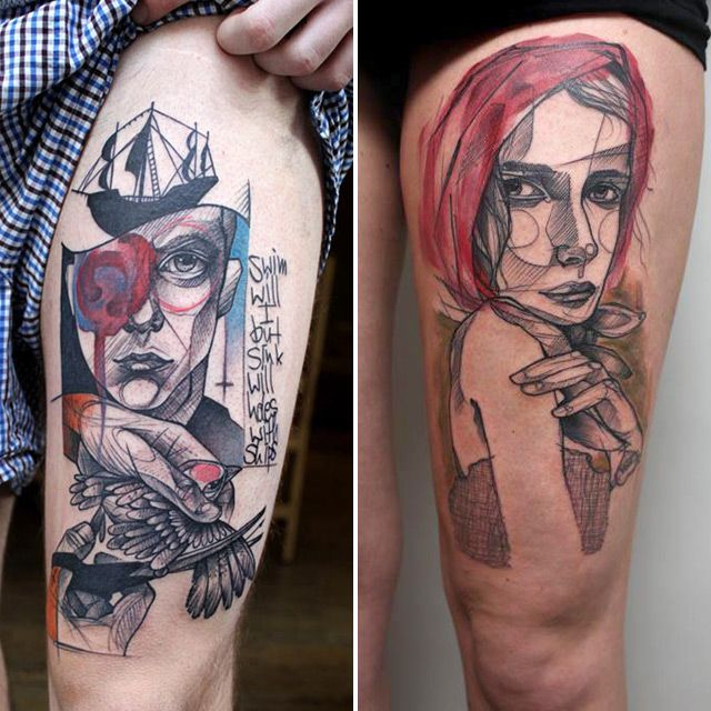 image: Tattoos by Peter Aurisch | Colossal by 3punto1