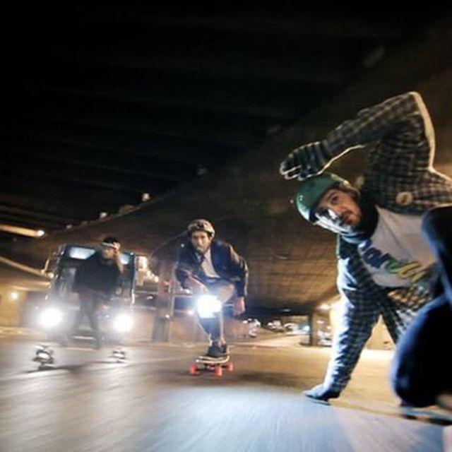 video: Winter Night Longboard by bass
