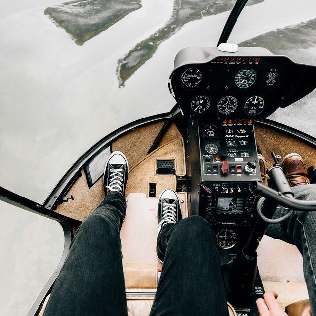 image: Inside a Helicopter by jongrado