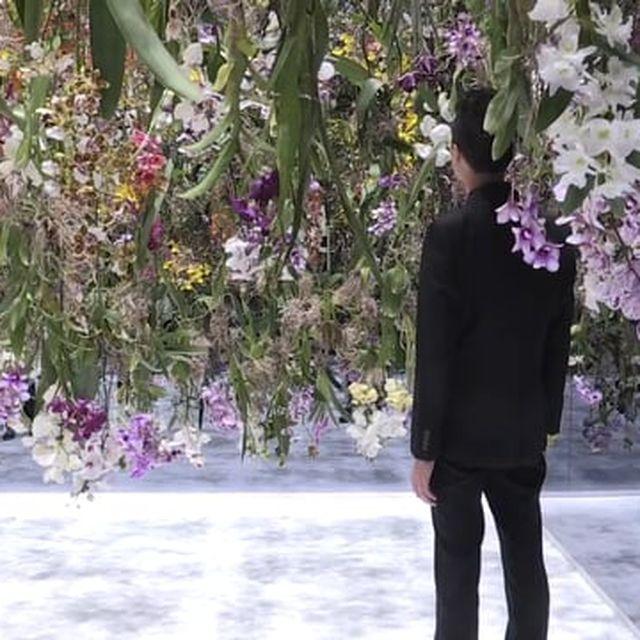 video: teamlab suspends floating flower garden at maison et... by jenniferasos