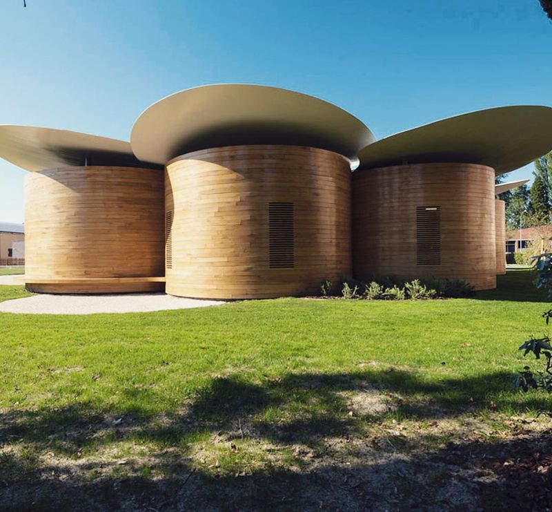image: Mario Cucinella Architects' Casa della Musica is both a concert venue and music school in the municipality of Bologna in Italy/ The architectural language is inspired by musical instruments and achieved through the choice of oak wood paneling and... by architizer