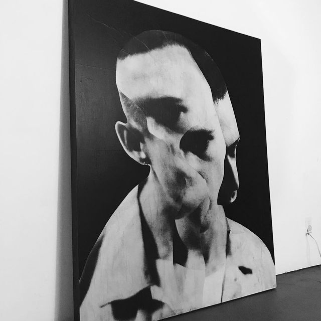 """image: found in my storage last night - used as a material & process test piece over the course of the last year - 48x60""""... by jessedraxler"""