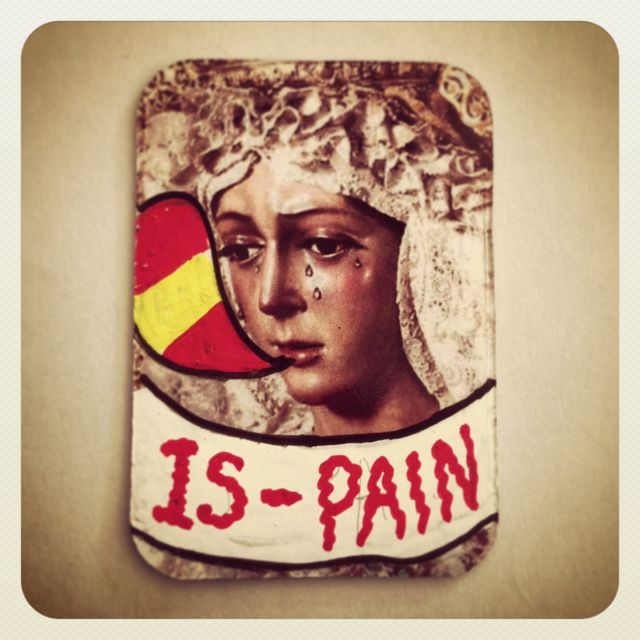 image: IS - PAIN · STREET ART MAGNET BY MAPYDH by mapydh