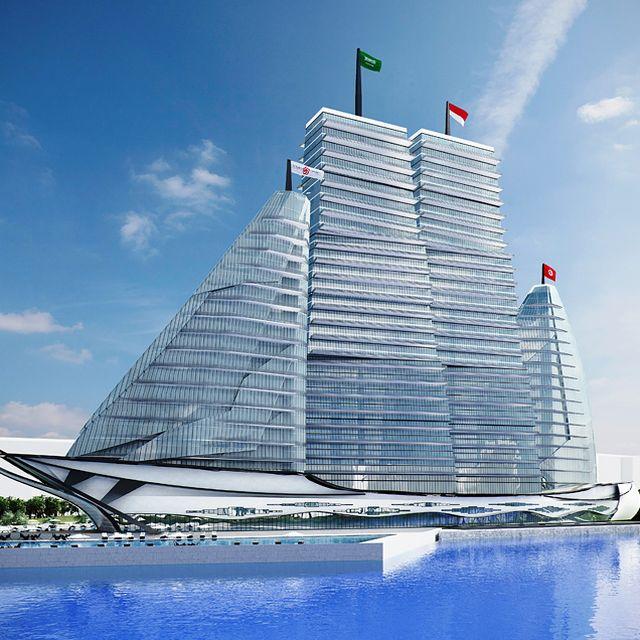 image: vasily klyukin's white sails hospital to be realized... by mundanebeige