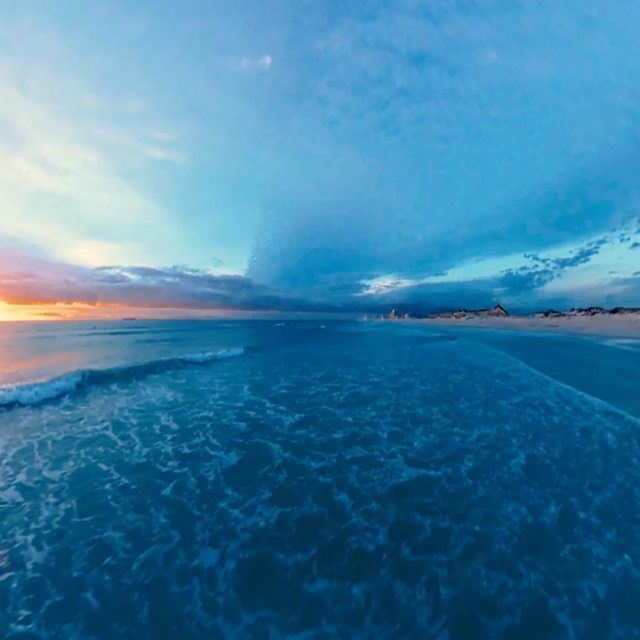 image: Sunset 360°drone flight at... by jonasginter