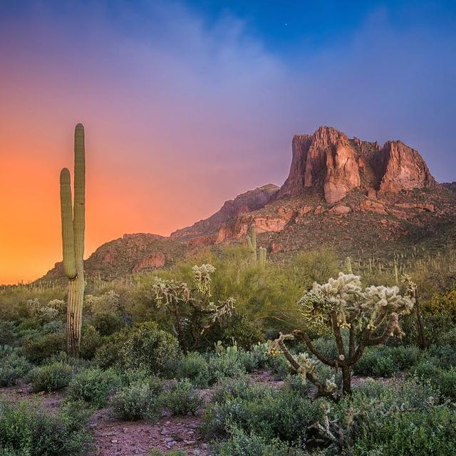 image: A glorious sunrise in the Superstition Wilderness. by seanparkerphotography