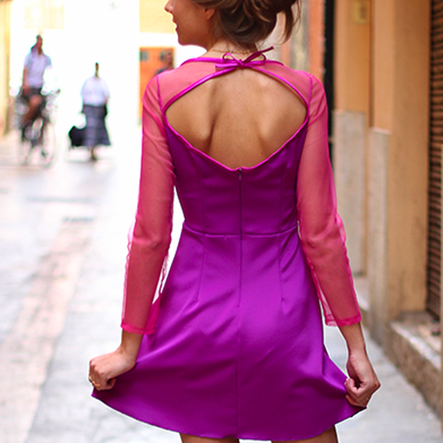 image: BACK PURPLE DRESS by byanina