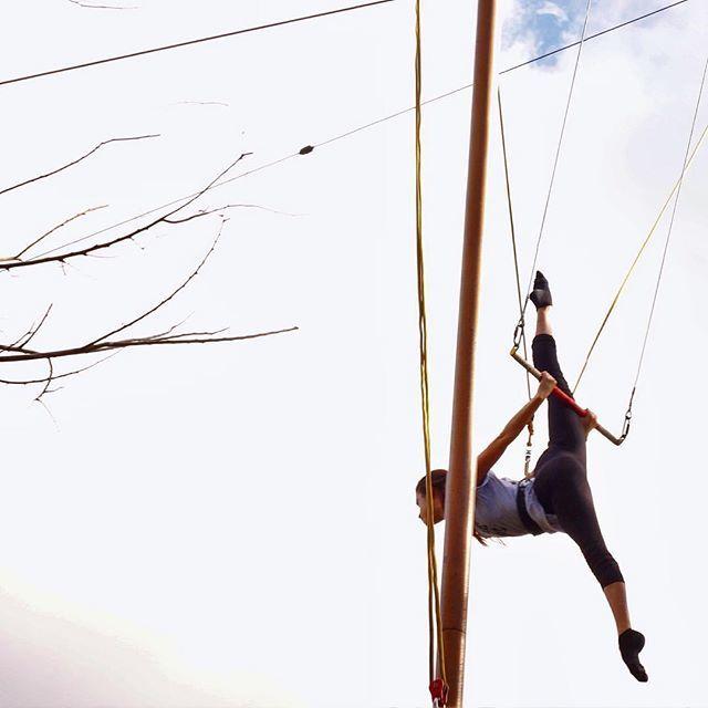 image: spleed#flyingtrapeze #flyart #circus by maria_pedraza