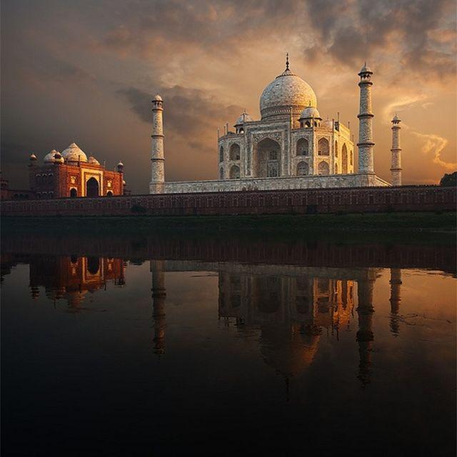 image: the taj mahal, india by exupery