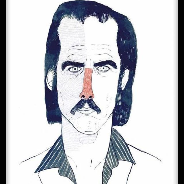 image: Nick Cave - Littleisdrawing by andres-calamar-oh