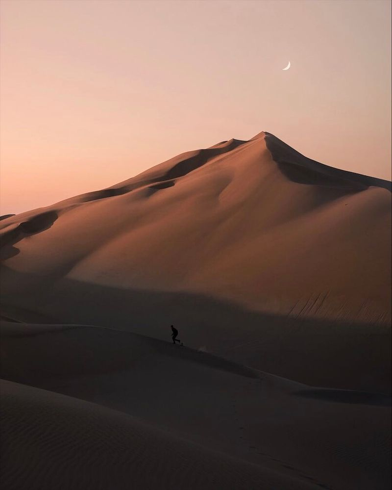image: The first time I've ever been in a desert.I ran around for sunset and watched the orange sky and sand blend together seamlessly. Thank you so much @hotelparacas and @theluxurycollection for the experience:) #destinationdiscoveries by josiahwg
