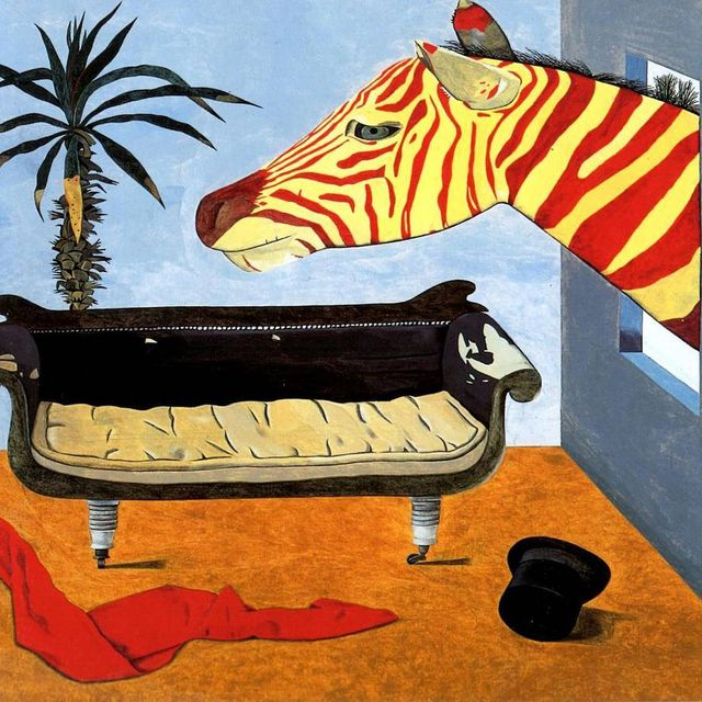 image: Peer into 'The Painter's Room', completed by Lucian Freud during a surrealist stint in 1944. by saatchigallery