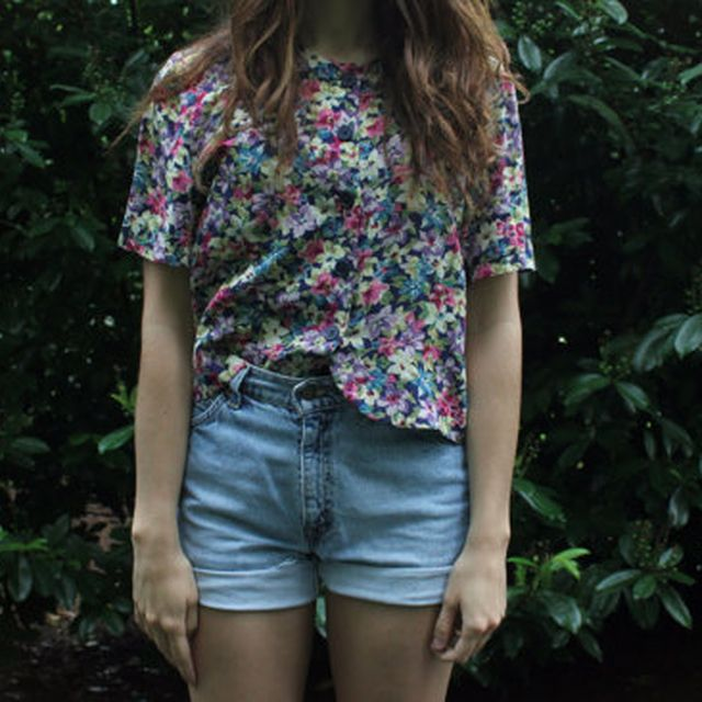image: Fun Floral Cropped Top by modernghosts