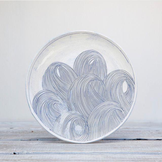 image: Hand-illustrated ceramics  by designmilk