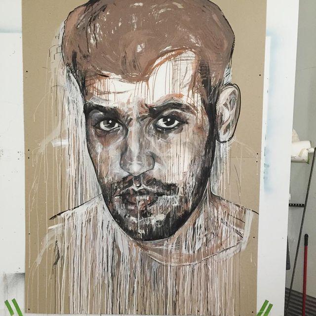 image: Clay/mixed media...del Pancho #redhead #uncletío by cristinacordovastudio