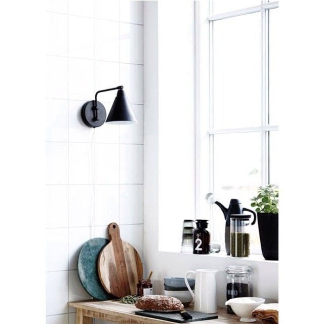 image: New York black & white wall light small by only4four
