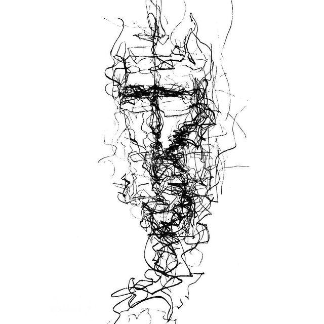 image: Leyla Ghasemi @leylaqasemi - Sad Man (conte pencil on paper) 29.7 x 42 cm. [2016] #leylaghasemi by durmoosh