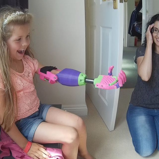 video: Girl Receives a 3-D Printed Arm by jenniferasos