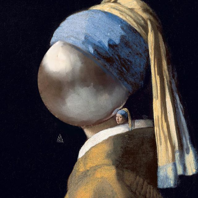 image: girl with a pearl earring by aykutaydogdu