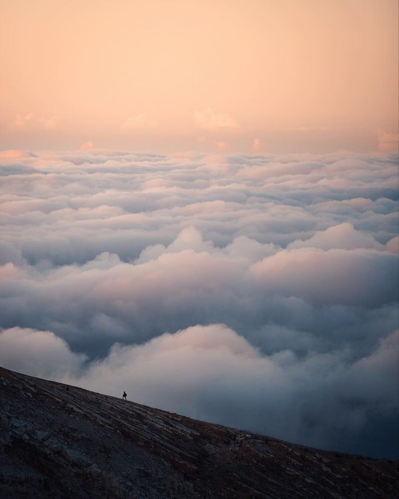 image: In the sky above the clouds yet somehow still on the... by josiahwg