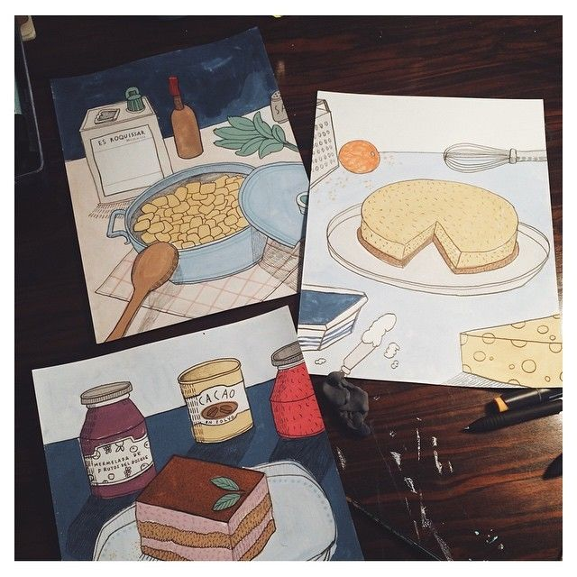 image: I'm still working on my cookbook. Soon #carlafuentes... by little_isdrawing