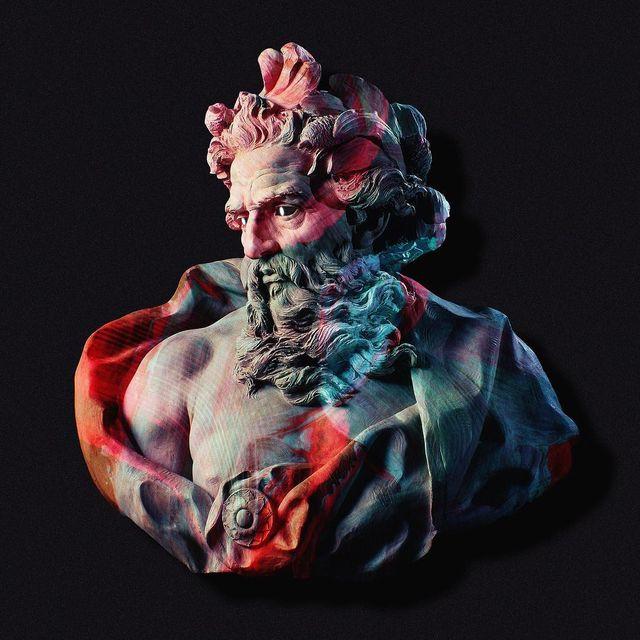 image: • Bust of Neptune • by black_nagini