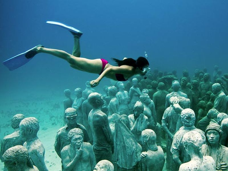 image: UNDERWATER SCULPTURE PARK - CANCUN, MEXICO by karmensia