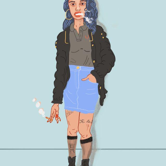 image: Girl smoking by luisrico