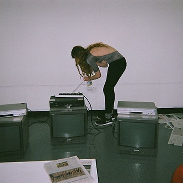 image: preparing my installation. by chloewallace