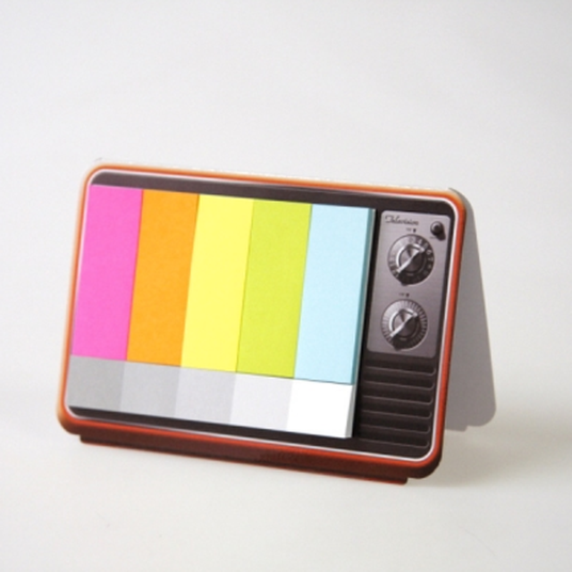 image: Mini Color TV Sticky Notes by aaragues