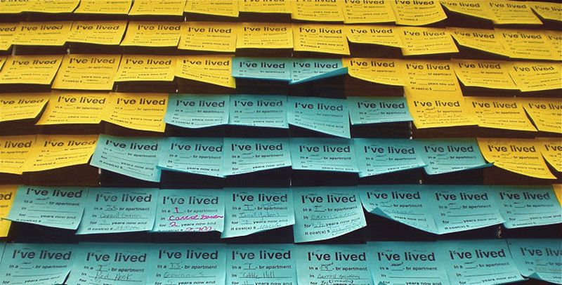 image: Post-it Notes for Neighbors - Candy Chang by nick-peterson
