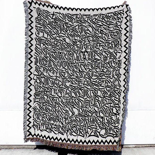 image: Calligraphy Blanket by moe