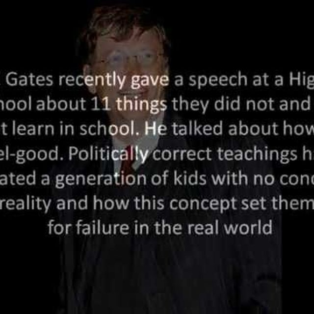 video: Bill Gates-11 Rules You Will Never Learn In School by Selbor