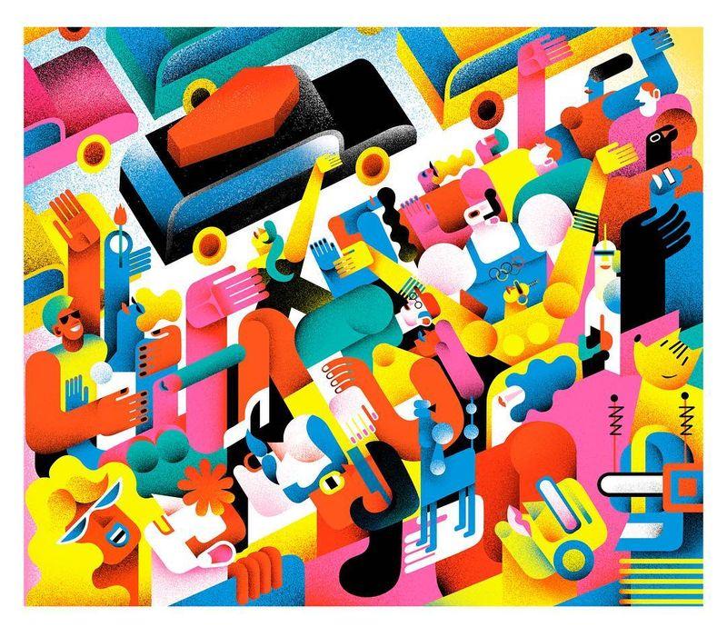 "image: ""L'enterrament de l'alcaldessa"" relat de Sergi Pàmies , la Vanguàrdia #illustration #lavanguardia #mariacorte by mariacorte"