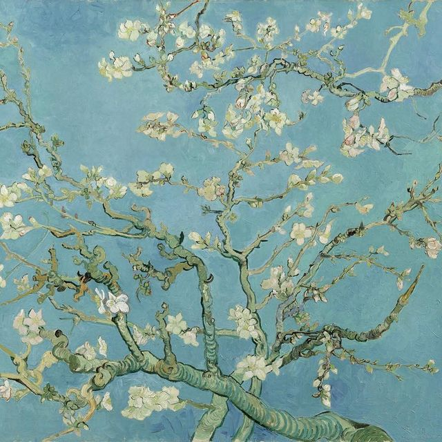 image: Almond Blossom by Vincent van Gogh made in 1880s inspired by japanese... by artpsycho