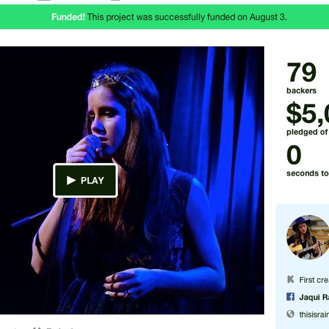 "post: Raine's Debut EP, ""Hope Was A Mountain"" — Kickstarter by raine"