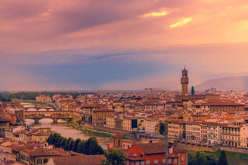 image: A must see in Florence, Piazzale Michelangelo, gives you an awesome view of the city, especially at sunset time!....#agameoftones #ig_italia #ig_firenze #italian_places #ig_europe #topitalyphoto #topeuropephoto #ngtuk #travel #travelgram #travelphotog by majolophoto