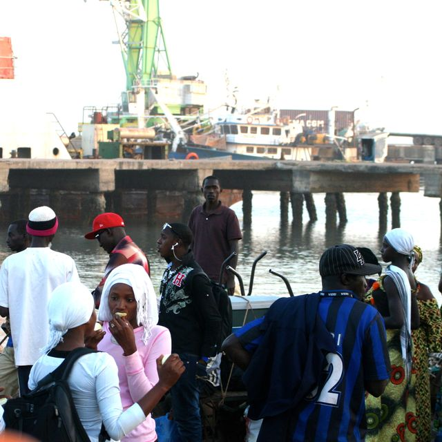 image: WAITING FOR THE BOAT ON THE BORDER OF SENEGAL AND GAMBI by ohteresa