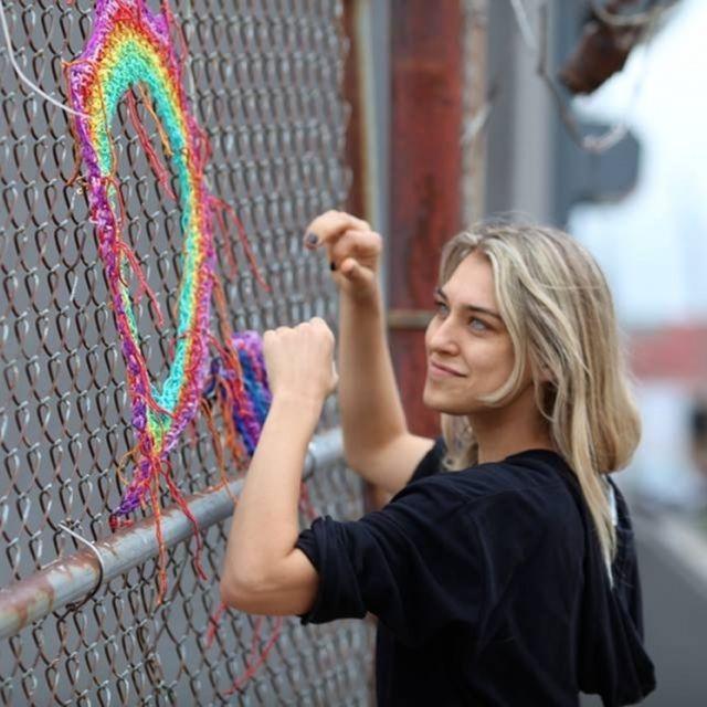 image: Yarn Bombing by neverdiscrete