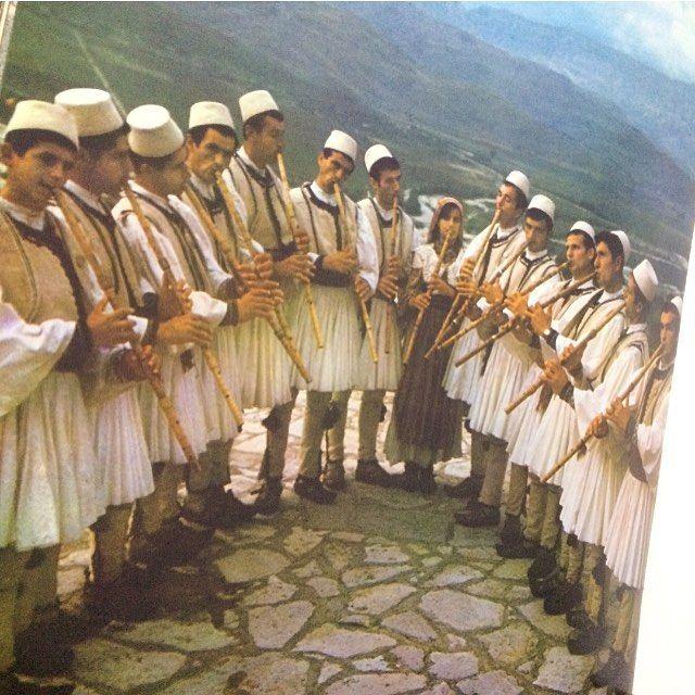 image: Troupe folklorique de flûtistes (Gramsh-Albanie centrale) . by isabellakilloran