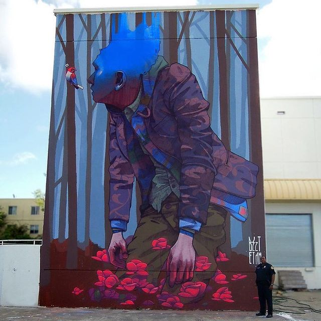 image: @bezt_etam wall in Miami, Florida, USA ??(2013)•#saineretamcru #urbanart #streetart #painting #streetartofficial #contemporaryart #miami #florida by streetart_official