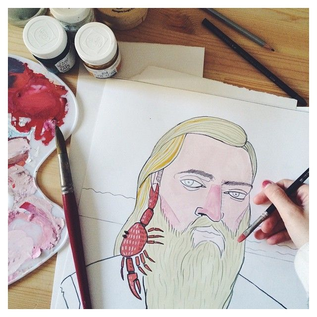 image: Coconut & Crab / New illustrations for The Love Comp... by little_isdrawing