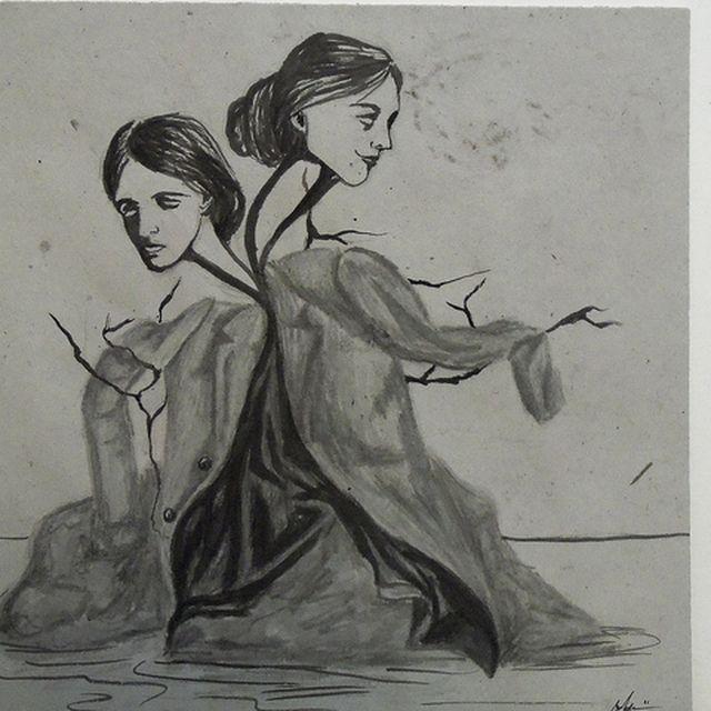 image: Virginia Woolf sketch by anaminum