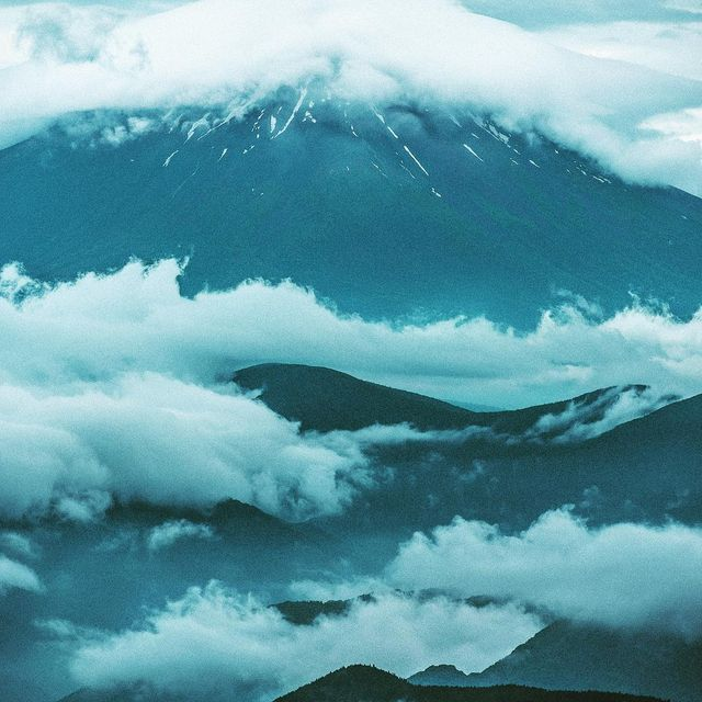 image: Mt. Fuji trying to make in appearance during a rainy week in Japan. #camp4pix by timkemple