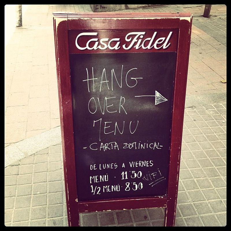"image: HanG Over Menu: ""Casa Fidel"" by james"