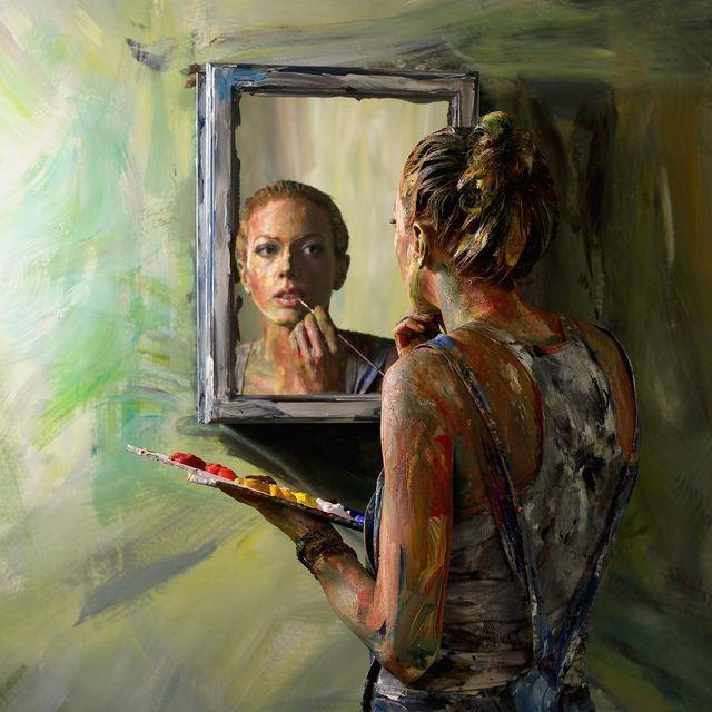image: In the mirror by alexameadeart