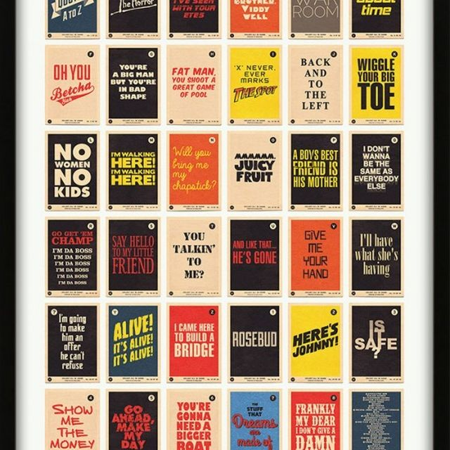 image: Movie Quotes Alphabet A to Z Print from 67 Inc. by hospitablesalmon